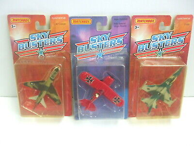 Matchbox SkyBusters Lot of 3 Planes - F-16 - A7 Corsair & Custom Pitts Special