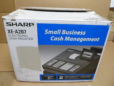 Sharp Xea207 Xe-a207 Cash Register 2500 Lookups 99 Dept 25 Clerk