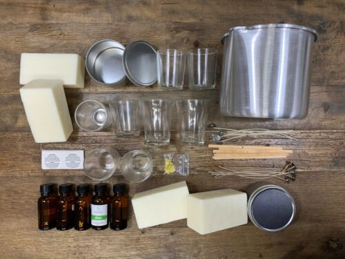 Candle Kit - Soy Coconut Wax Blend - 24 PCS - Scented Candles Kit Natural Wax