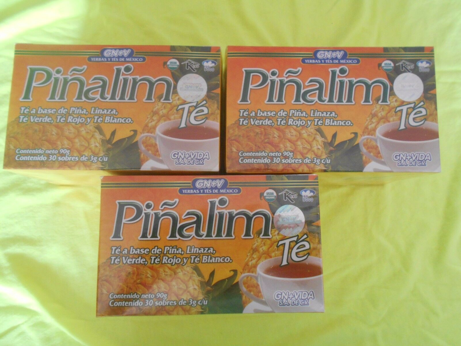 3 x PIÑALIM TEA GN+VIDA . PINALIM TEA (3 Boxes)  DIET. DETOX. WEIGHT CONTROL.