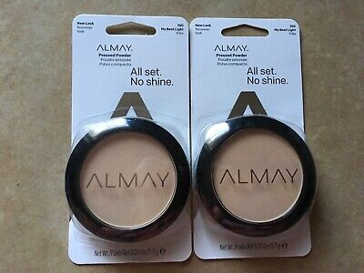 Lot Of 2 Almay Pressed Face Powder All Set No Shine 100 My Best Light New