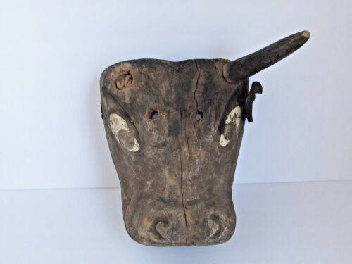 Antique Guatemalan Bull Dance Mask