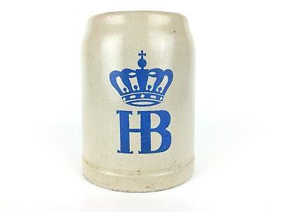 Vintag HB German Hofbrauhaus Beer Stein .5 Liter Stoneware Pottery Munchen MI362