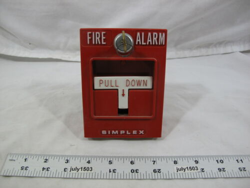 (1) Used Simplex 4251-20 Fire Alarm Pull Station T-Bar with Key