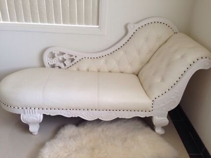 French white chaise lounge bridal chair hire $250 Fairfield Fairfield Area Preview