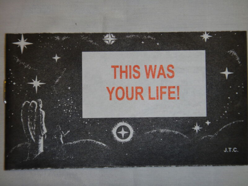 """""""This Was Your Life""""  Christian Chick Tract (1 tract + 1 Random tract) English"""