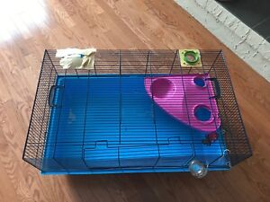 Hamster cage and supplies 150$