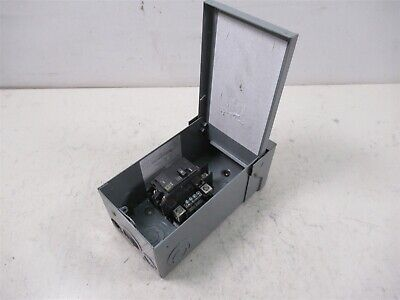 Square D 70 Amp Breaker Box Q024l70rbcp With Mounted Breaker
