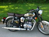 Royal Enfield Bullet 500cc Classic Chromeand Forest Green