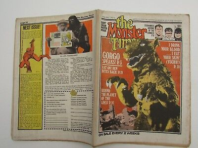 THE MONSTER TIMES VOL 1 #12 June 28 1972 Steranko's History of Comics, Gorgo