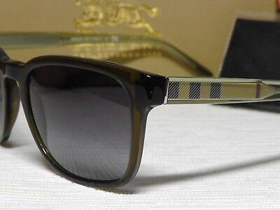 BURBERRY B4222 Men's Olive Green Retro Composite Frame Sunglasses 55 20 145**