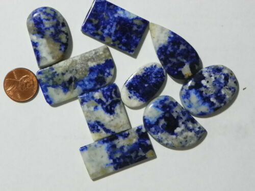 Sodalite 348 Carats Total Weight 9 Cabs