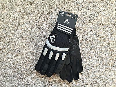 NEW Adidas SCORCH DESTROY football lineman gloves men 3XL XXXL Black ()