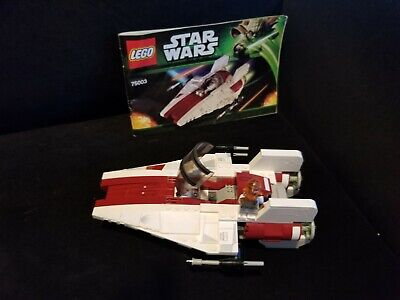 LEGO Star Wars A-wing Starfighter, Set # 75003, all items including manuals.