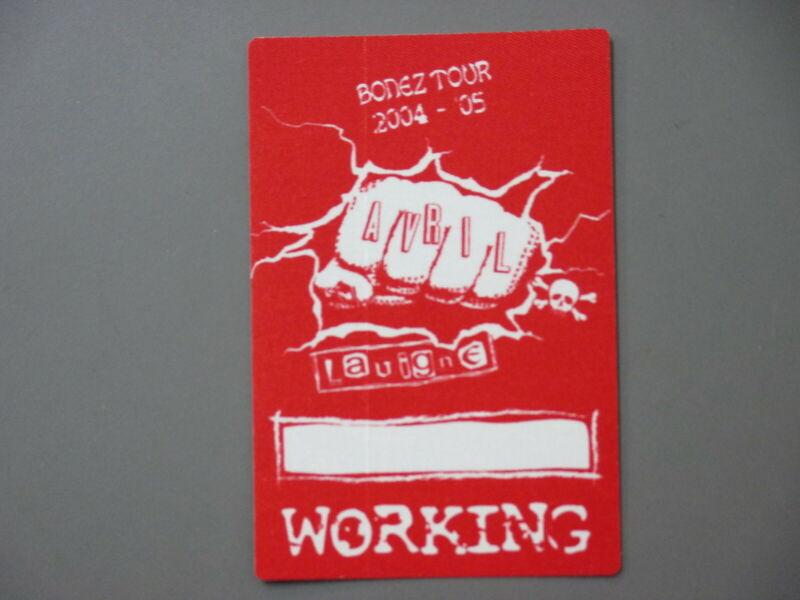 Avril Lavigne backstage pass Satin cloth sticker 2004-05 Bonez Tour !
