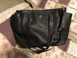 6e01a0fa6007 Coach Black Large Multifunction Tote Diaper Baby Bag