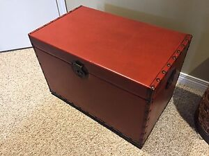 Red Trunk Blanket Box