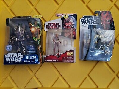 STAR WARS THE CLONE WARS Lot - Kul Tesla, Savage Opress & AHSOKA TANO