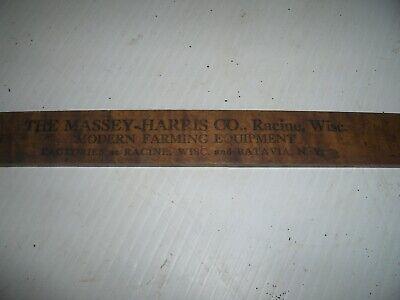 Vintage Wallis Tractors Massey Harris Tractors Advertising Yard Stick Rare