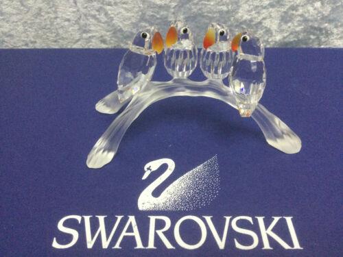 Swarovski Crystal Baby Lovebirds 7621000005 199123. Retired 2011. w/box
