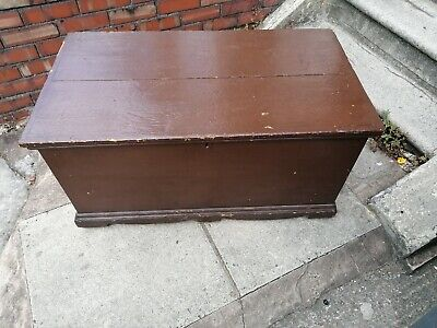 original victorian large pine bedding box with candle box shelf not refinished