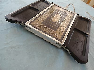 Vintage MCM Georges Briard ~ Fold Out ~ Warming Tray Silver Leaves Jaxton  Fold Out Trays