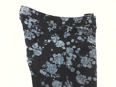 AMERICAN EAGLE Stretch Skinny Jeans Jeggings Blue Rose Floral Print Women's 10