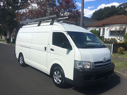 Toyota Hiace 2010 SLWB Manual, Fitted out with shelves and ladder