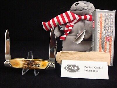 Case XX USA 52046-1/2 Nice Stag Humpback Whittler Knife 2013 NEW IN BOX MINT