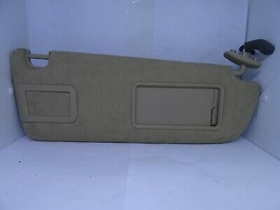 *AUDI A8 2004-2010 BEIGE SUEDE DRIVER RIGHT SUN VISOR WITH LOOM 4E0857552