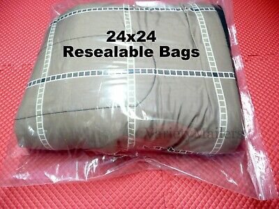 10 Jumbo Size 24x24 Reclosable Seal-top Clear Plastic Merchandise Storage Bags