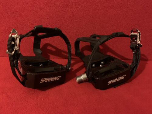 SBDs Indoor Cycle SPIN Bike Pedals W/SPD CLEATS Toe Clip 9/1