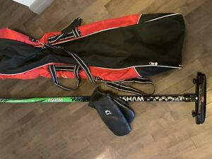 Curling Broom, Bag and Large Mitts