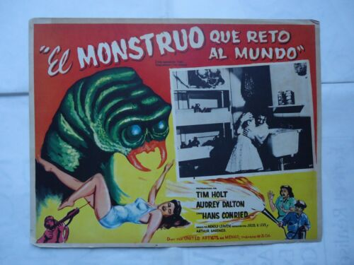 SCI FI/THE MONSTER THAT CHALLENGED THE WORLD/U29D/ mexican lobby card