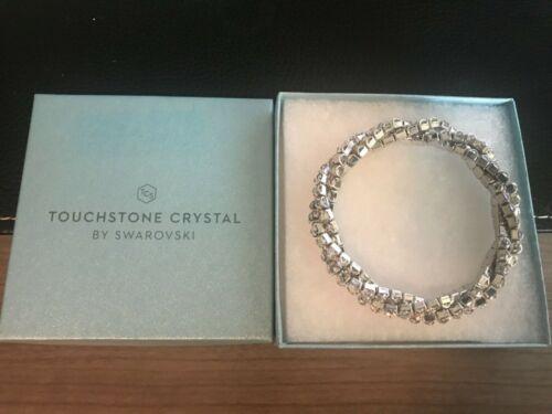 Touchstone Crystal Swarovski Crystal AB Triple Strand Twisted Stretch Bracelet