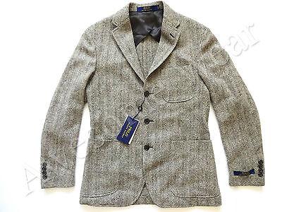 New Ralph Lauren Polo Italy Wool Blend Gray Herringbone Sport Coat Jacket 42 R