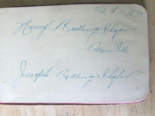 1899 MEDICAL RECIPE NOTEBOOK HENRY & JOSEPH  REDLINGSHAFER PEKIN ILL
