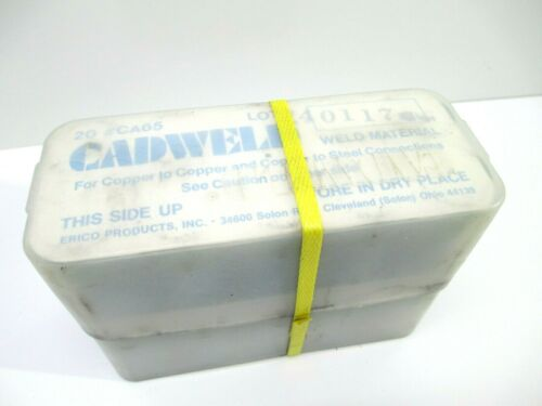 CADWELD  CA65 WELD MATERIAL COPPER 1 CASE= 20 CARTRIDGES WELDING CONSTRUCTION