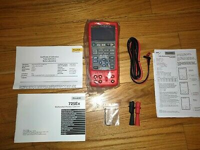 Fluke 725ex Intrinsically Safe Multifunction Process Calibrator Sealed Cal 2018