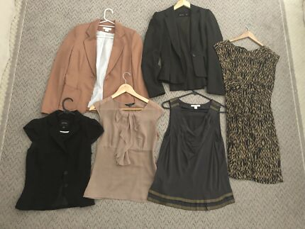 Work business clothes attire tops x2 blazers x3 dress and pant