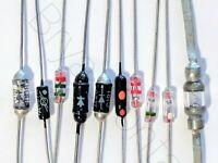 20Pcs 1N34A DO-35 germanium detector diode AM//FM crystal radio Ao