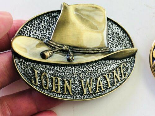 "John Wayne Belt Buckle WALL ART Collection ""WHITE HAT"" Exchange Cowboy LE"
