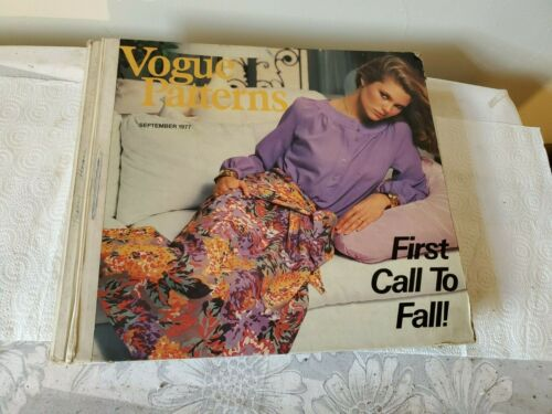 vintage vogue patterns catalog september 1977 first call to fall store counter