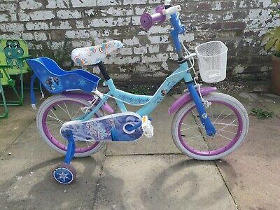 """Disney Frozen 4 - 6 yrs Kids Bike 14"""" Wheel with stabilisers"""