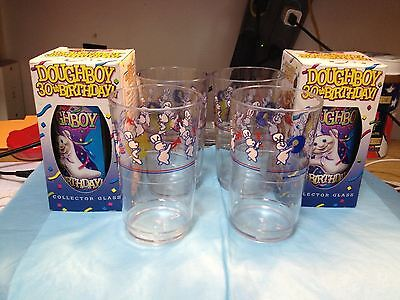 TWO DOUGHBOY 30TH BIRTHDAY GLASSES AND FOUR DOUGHBOY ON PARADE GLASSES-----ls