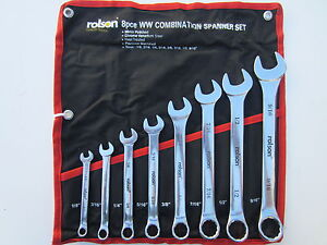 WHITWORTH 8 PIECE COMBINATION WRENCH SET TOOL BSA TRIUMPH NORTON AJS MATCHLESS