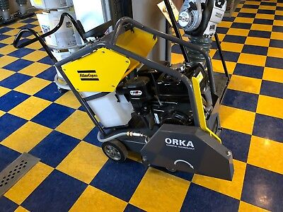 Atlas Copco 18 Walk Behind Concrete Floor Saw Honda Free Shipping