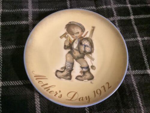 Mother's Day 1972 Berta Hummel Plate 1972 Free Ship