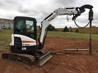 Post holes, Lawns, Rototiller, Leveller, Bush wacker for hire