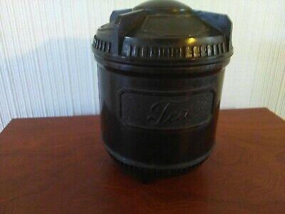Bakerlite. Dark Brown Tea Caddy.